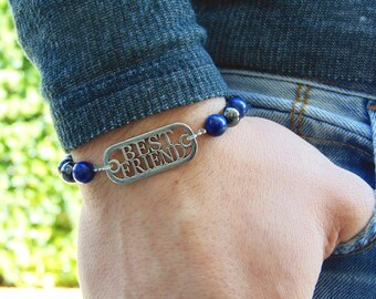 Mens hematite beaded bracelet,Gay Bracelet,Gay Men bracelet,Fearless Bracelet,Best Friend Bracelet,bracelet for him,gift for him