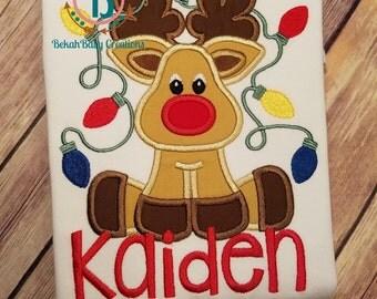Tangled Reindeer Boy-Christmas shirt