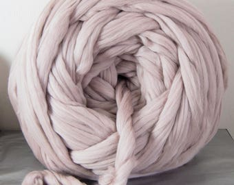Giant yarn, giant wool, dusty pink color, mink color, chunky yarn SALE 23 micron merino wool 1kg, best price, good deal.