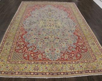 Traditional Persian Shahreza Rug