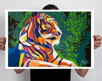 Tiger Art Print 60x40 cm