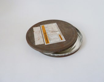 nostalgic, old film canister, vintage shabby Tin for rolls of film for film rolls, can