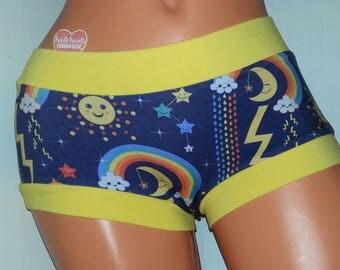 XS Scrundies Panties Ladies Underwear RTS / Boyshorts / Electro Spectrum