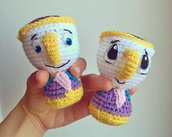 CHIP The Beauty and the Beast Amigurumi