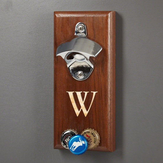 Magnetic Personalized Bottle Opener Baxter Wall Mounted