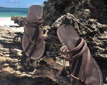 ZANTE sandals 100% handmade real leather shoes