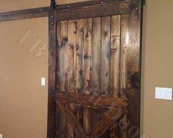 "HALF X-BRACE......Custom Sliding Barn Doors. Made to fit your style!    ""Interior / Exterior Barn Doors""  TBS Barn Doors"
