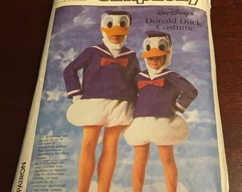 Simplicity 7731 Walt Disney Donald Duck Sewing Pattern  Adult Teen Costume Party Cosplay Halloween Dress Up Size Small 32 34
