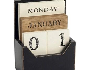 Wooden calendar eternal