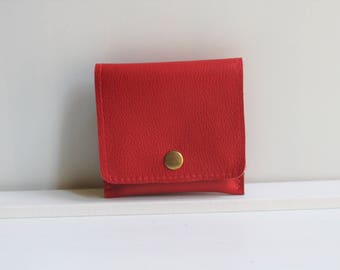 15% OFF Red Wallet for Women, Red Leather Wallet for Women, Small Womens Wallet