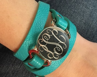 Engraved Leather Wrap