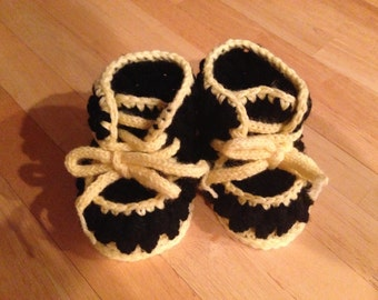 Black Baby Boots with Laces
