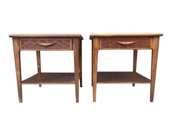 Pair of MId Century Side Tables by Lane