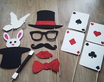 Photobooth x 12 magician, magic accessories