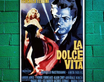 Film Poster The Sweet life - Federico Fellini - Size: 70x100 CM