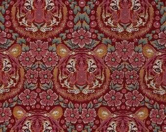 Tula Pink Eden; Crouching Tiger in Tourmaline; 1/2 yard cotton woven fabric