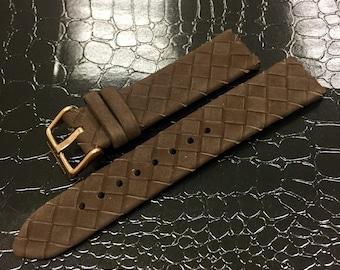 Beautiful watch strap manufacture elegant fashion. Loop 20 mm