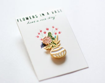 Flowers In A Vase Pin