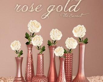 Rose Gold Wedding, Rose Gold Decor, Rose Gold Centerpieces, Rose Gold Bud Vase, Rose Gold Decor, Gold Vases, Gold Wedding, Gold Vases