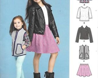 Girls/Childrens Sportswear Clothes, Size 3 Thru 6, New Simplicity Pattern 8027