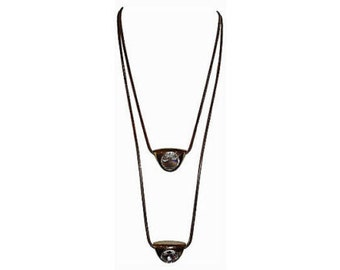 Lanvin Double Headlight Pendant Necklace