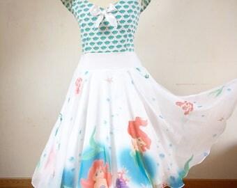 """Mermaid"" pinup dress"