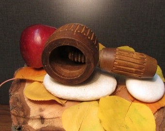 Vintage Wooden Crusher for Walnuts, Wooden Tools, Kitchen Tools, Crushers, Gift Idea
