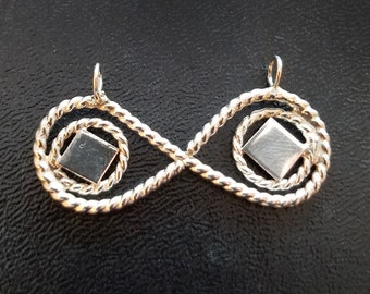 Style#0173 -  Infinity Symbol # 2 Pendant - Sterling Silver - Gift for her