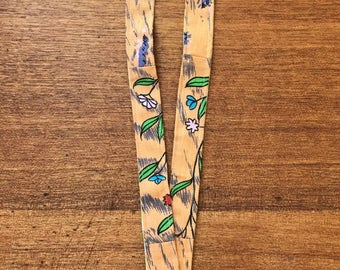 Lanyard, Badge holder, Fabric lanyard, Handmade lanyard, Floral lanyard, Teachers lanyard, Office lanyard, Fabric badge holder
