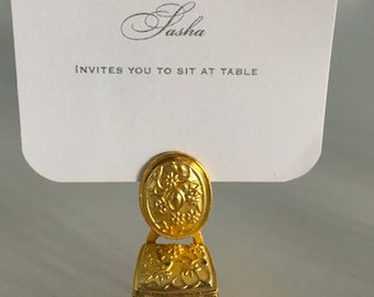 Place cards holder, Chairs, Gold, Baroque, Vintage