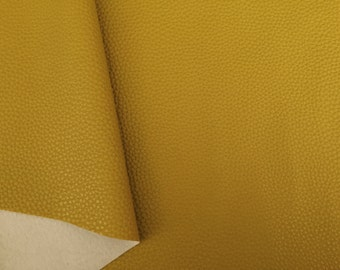 Mustard Faux Leather Mustard Leatherette Texured Mustard Soft Leatherette Supply in Australia