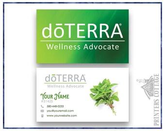 doTerra Business Cards  •doTerra Business Card Designs • doTerra Marketing Materials • DTA-BC002