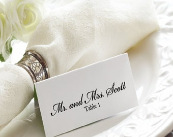 Wedding Place Card Template | Wedding Place Cards | Wedding Place Card Printable |  Elegant Wedding Place Cards | The Julia Collection