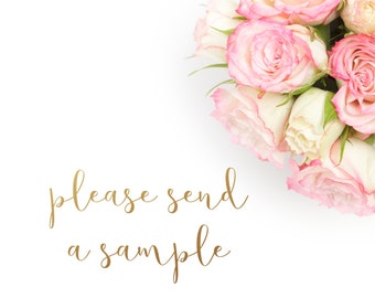 Sample Napkin - Please Contact First for Approval