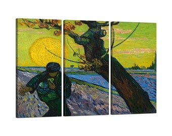Painting on canvas with Tris Frame Vincent Van Gogh The sower