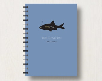Personalised Fishing Lover's Journal or Notebook