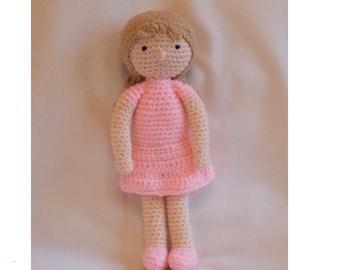 Crochet Doll, Amigurumi Doll, crochet pink doll, amigurumi pink doll, crochet dolly, READY TO POST in 2-3 days