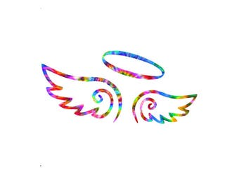 Angel Wings Decal in your choice of pretty preppy patterns and prints!  Seventy patterns and multiple sizes to choose from!