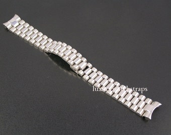 Solid stainless steel bracelet for Rolex President Watches 20mm - solid end links. Superb quality.
