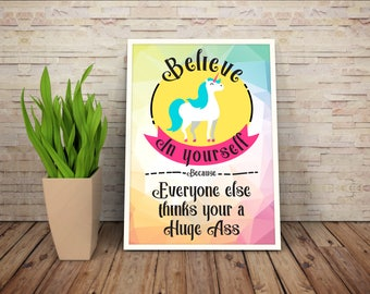 Unicorn Inspire Poster (Download)