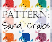 Sand Crabs Quilt Pattern: Feeling Crabby / Crab Blanket Quilts