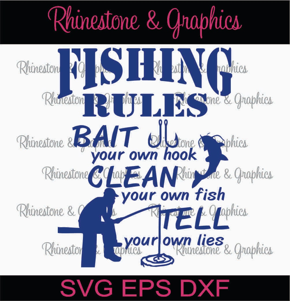Fishing rules fisherman catfish pattern instant download svg for Illinois fishing regulations