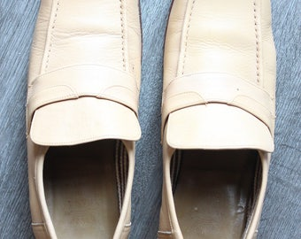 Vintage Casa di Savoia Beige Loafers
