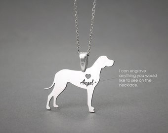 REDBONE COONHOUND NAME Necklace - Redbone Coonhound Name Jewelry - Personalised Necklace - Dog breed Necklace- Dog Necklace