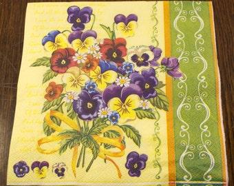 Decoupage napkin Paper napkin flower floral Decoupage napkins scrapbooking paper craft decoupage