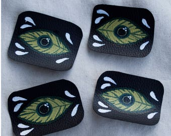 Hand Painted Patches - La Hoja que Todo lo Ve