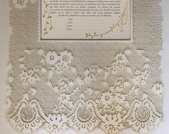 Papercut ketubah, Jewish wedding ketubah, Lase cut Ketubah, Ketuba, Modern Ketubah, Interfaith Ketubah, wedding vows, Marriage Certificate