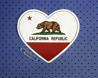 California Heart Flag Sticker