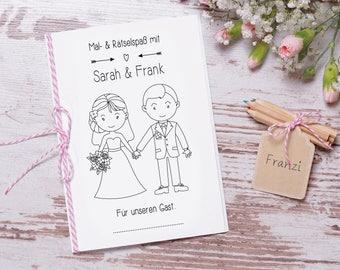 """Hochzeitsmalbuch PDF """"Sweet"""" Gastgeschenk Hochzeit"""