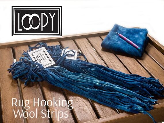 Rug Hooking Wool Strips Blue (Night Sky) Hand Dyed 100% Wool For Rug Hooking  (50 Strips) From LoopyWoolSupply On Etsy Studio